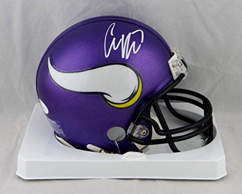 Case Keenum Autographed Minnesota Vikings Mini Helmet - JSA W Auth White
