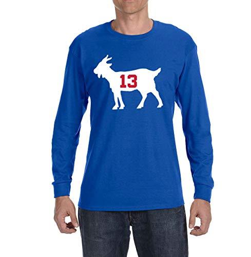 - Tobin Clothing Blue New York Beckham Goat Long Sleeve Shirt Adult XL