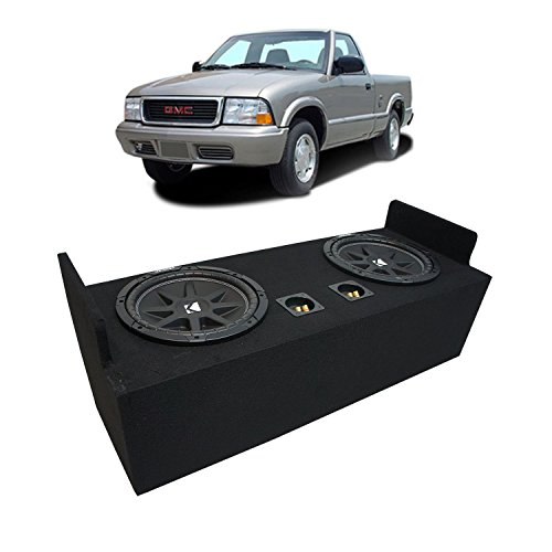 "Fits 1982-2004 GMC Sonoma Extended Cab Truck Kicker Comp C12 Dual 12"" Sub Box Enclosure - Final 2 Ohm"