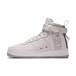 Nike Men's Sf Air Force 1 Mid Suede Grey Aj9502-001 (Size: 10)