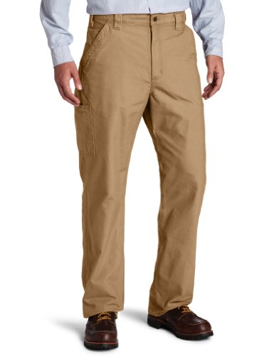 Carhartt Men's Canvas Work Dungaree Pant B151, Dark Khaki, 33W x 30L