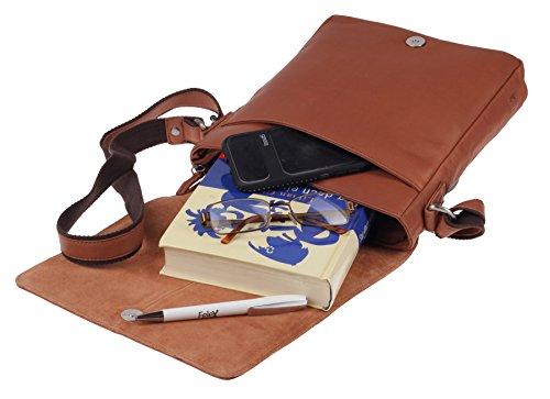 Tablet Cm Pelle Scomparto 23 Borsa Greenburry A A4 Tan Tracolla Pure XOx0qwz