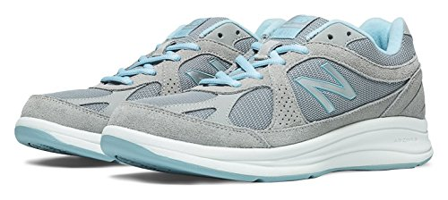 扱いやすいクラシカル講義(ニューバランス) New Balance 靴?シューズ レディースウォーキングシューズ New Balance 877 Silver with Aqua シルバー アクア US 8.5 (25.5cm)