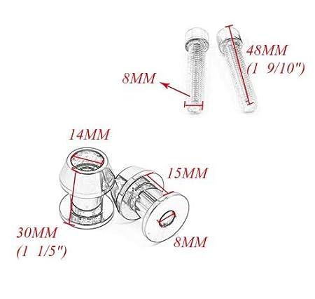 8mm CNC Swingarm Sliders Spools Paddock Stand Bobbins Swing Arm For Honda CB1000R CB600F 599 CBF1000 CBR1000RR//1100XX CBR600 F2 F3 F4 F4i CBR600RR//900RR//929RR//954RR ST1300 Swing Arm Spools Sliders