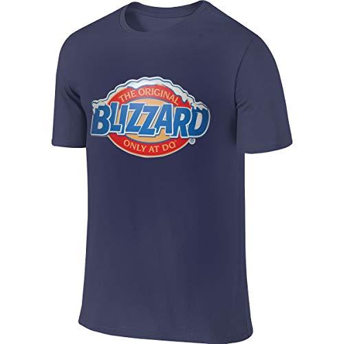 Customized Dairy Queen Ice Cream Logo Short Sleeve Tee T-Shirts Geek Mens Crew Neck Tees Tops,Navy
