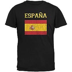 World Cup Distressed Flag Espana Adult T-Shirt