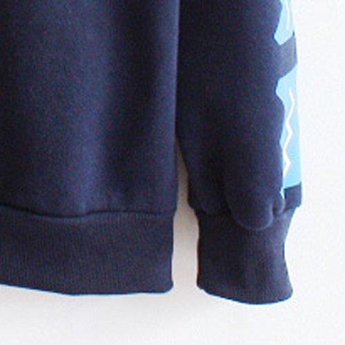 TOOGOO (R) Damen Laessiger Druck Loses Vlies Pullover - Blau