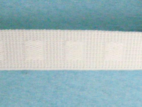 Non Roll Flat (Wholesale Flat Woven Non Roll Elastic - White 1/2