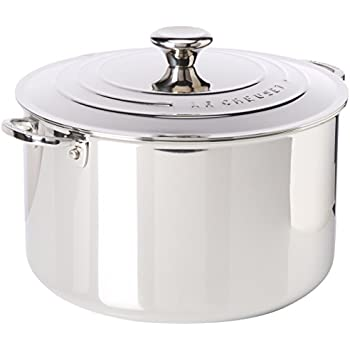 Le Creuset Tri-Ply Stainless Steel Stockpot with Lid, 11-Quart