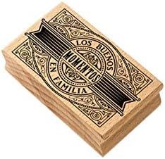 Soporte madera Sello caucho MYA 0046 Buenos momentos