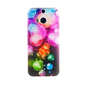 Kinston Color Bubble Pattern Tpu Soft Case for HTC one(m8)