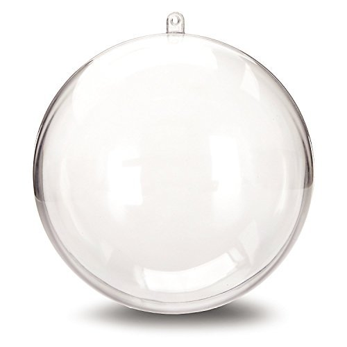 Darice 1105-89 Plastic Ball Ornament, 140mm, Clear - Pack of 2