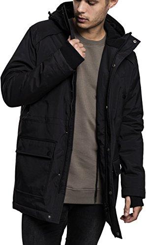 Parka Thumbhole Hombre Negro Classics Hooded 7 Heavy Black para Urban SIgnAvqaW