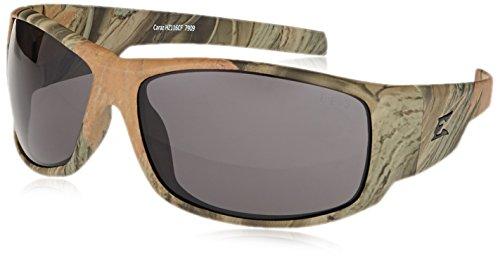 Camo Edge (Edge Eyewear HZ116CF Caraz Smoke Lens, Forest Camo)