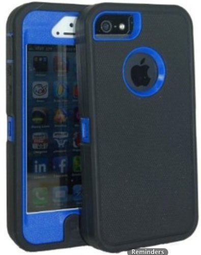 Lucky 3308685 Body Armor Defender for Iphone 5 and 5S - Black on Blue
