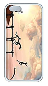 iPhone 5 Case, iPhone 5S Cases - Ultra Fit Soft Case Cover for iPhone 5/5s Jumping Into Water Perfect Fit White Rubber Back Case Bumper for iPhone 5/5S