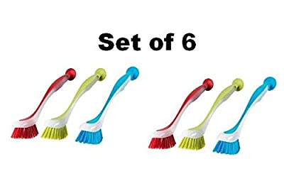 Ikea 301.495.56 Plastis Dishwashing Brush, Assorted Colors, Set of 3 by Ikea