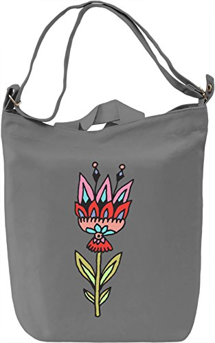 Flower Borsa Giornaliera Canvas Canvas Day Bag| 100% Premium Cotton Canvas| DTG Printing|