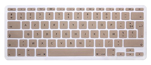 HRH AZERTY French Silicone Keyboard Cover Skin for MacBook Air 11.6 Inch MacBook 11