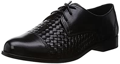 Cole Haan Women's Jagger Weave with Laces Oxford, Black, 5 B US