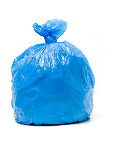 CRB-3036, 20-30 Gallon, 1.2 Mil, 250 Count, Super Strong, Unprinted, 30x36 Inches, Blue Tint Recycling and Soiled Linen Hospital Liner Bags, MADE IN ()
