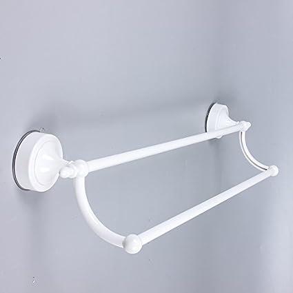 SYDLJ La barra de espacio dual de aluminio colgador de toallas de baño toallas de alta