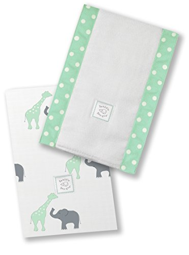 SwaddleDesigns Burpies Cotton Cloths SeaCrystal product image