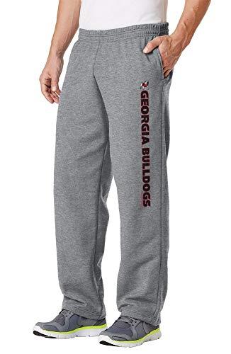 Georgia University Bulldogs (Elite Fan Shop Georgia Bulldogs Fleece Pants Captain Gray - 2XL)