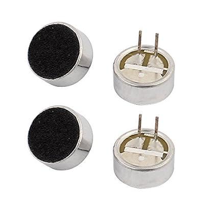 Amazon.com: 10x5mm eDealMax 4pcs recogida 30-44dB micrófono de condensador electret de alta sensibilidad: Electronics