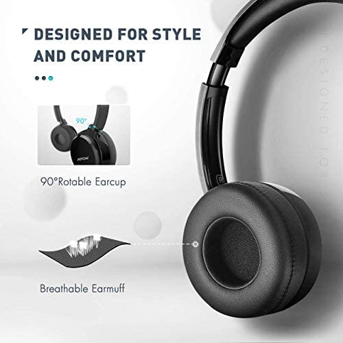 Mpow 071 USB Headset/ 3.5mm Computer Headset with Microphone Noise Cancelling, Lightweight PC Headset Wired Headphones, Business Headset for Skype, Webinar, Cell Phone, Call Center
