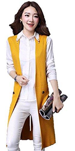 抵抗力があるズボン爬虫類【SEBLES】レディース ベスト 羽織り ジレ ロング 薄手 春 長い 大きいサイズあり ボタン