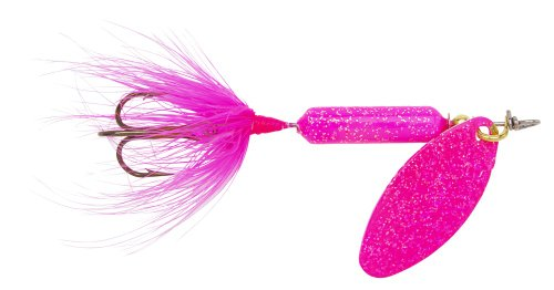 Yakima Bait Wordens Original Rooster Tail Spinner Lure, Glitter Pink, 1/8-Ounce ()
