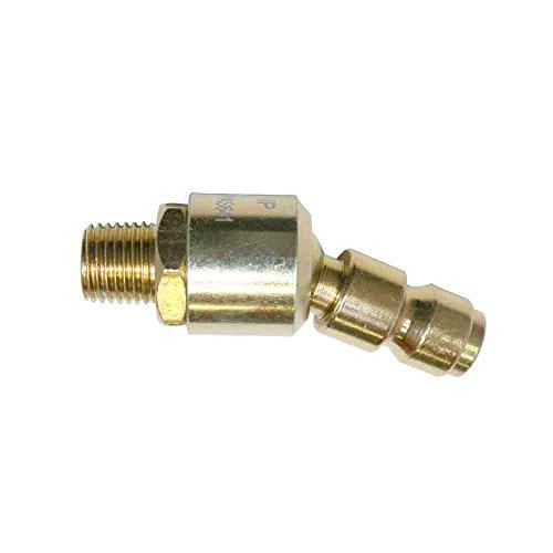 (Interstate Pneumatics CPAS641 3/8 inch Automotive Steel Swivel Coupler Plug Reducer x 1/4
