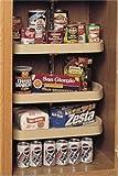 22'' D-Shaped Lazy Susan 3 Shelf Set w/38'' to 46'' Shaft Almond