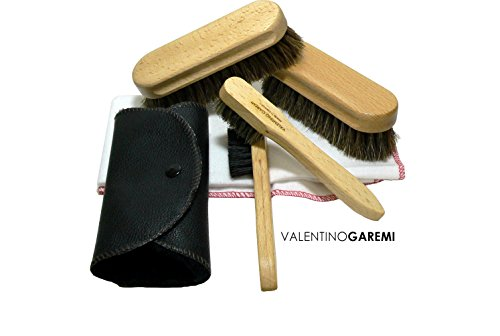 Cleaning, Polishing & Buffing Shoe Care Set - Complete Brush Kit for Leather & Other Materials Footwear