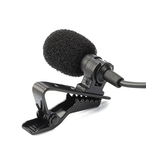 SW Lavalier Lapel Clip Microphone for iPhone and Android Smartphone Travel Bag