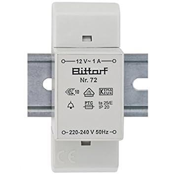 Klingeltrafo für Reiheneinbau 12V  1A Klingeltransformator  Bittorf