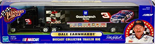 1/64 Scale Dale Earnhardt Sr #3 Vintage Hasbro Winners Circle Goodwrench GM Service Plus RCR #3 Hauler Trailer Tractor Semi Truck Transporter Rig 2000 Edition ()