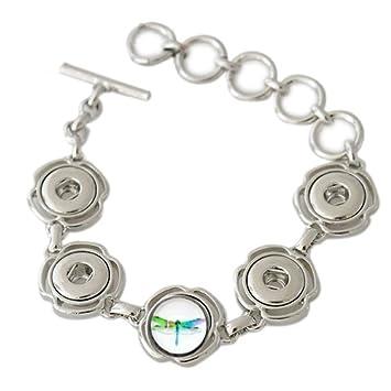 327c4d59c7 Snap Charm Bracelet Mini 12mm Includes Dragonfly Fits Skinny Wrists
