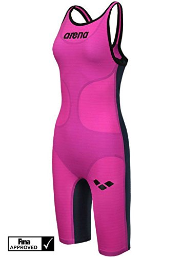 Woman Carbon Air Knee Skin Open Back (22, Fuchsia Titanium Blue)