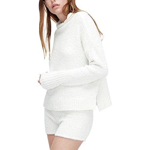 UGG Women's Sage Fluffy Sweater Knit Cream Large