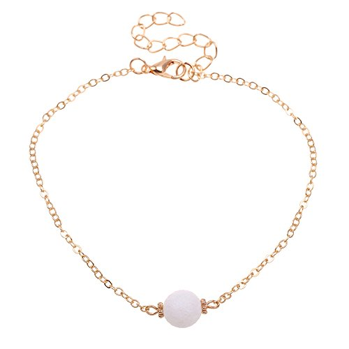 wholesale QSKS Women Gold Plated Link Chain Coral Anklet,8.27''