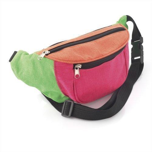 Bum Bag fanny Pack Festival Money Waist Pouch Travel Canvas Belt Grunge  Neon (Multi colour tribal ... 174c0c910f