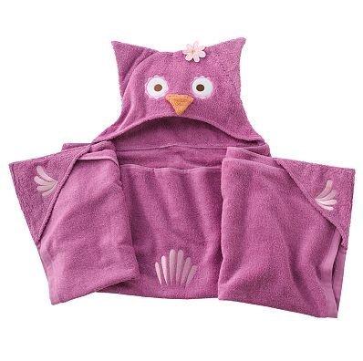 Jumping Beans Olivia Owl Hooded Bath Towel