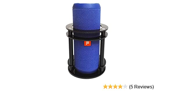 Black FitSand Speaker Holder Stand Guard Station for JBL Flip 5//4//3 Splashproof Portable Bluetooth Speaker