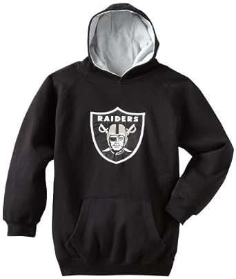 NFL Oakland Raiders 8-20 Youth Sportsman Pullover Fleece Hoodie, Black, Small