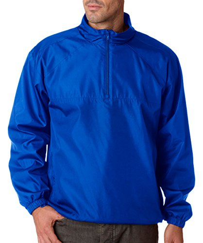 ULTRACLUB (r) Adult Micro-Poly Windshirt>XL Royal Adult Micro Poly Pullover Jacket
