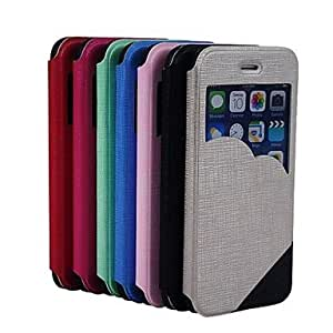 PEACH Mixed Colors Pattern PU Leather Cover for iPhone 6 (Assorted Colors) , Silver