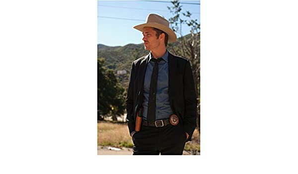 Justified Timothy Olyphant as Raylan in Cowboy Hat and Suit Jacket Hands in Pockets  Gazing Sideways 8 x 10 inch photo at Amazon s Entertainment Collectibles ... b965263d82de