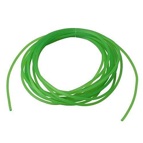 Cinturón redondo de poliuretano de fibra de vidrio resistente de 3 metros de longitud y 2 mm de diámetro: Amazon.es: Amazon.es
